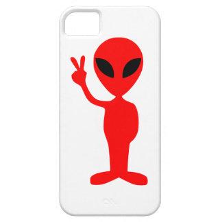 手を搭載する赤い外国の身振りで示すピースサイン iPhone SE/5/5s ケース