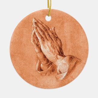 手を祈ること セラミックオーナメント