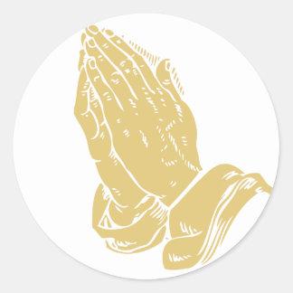 手を祈ること ラウンドシール