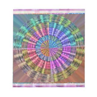 手作りされた天然Folkartの篭織模様 ノートパッド