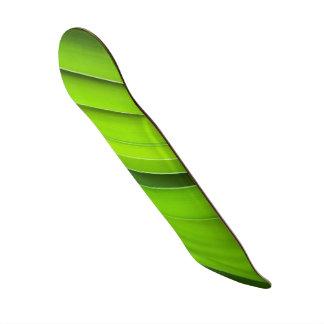 手入れをする緑 カスタムスケートボード