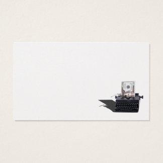 手動タイプライターのお金 名刺