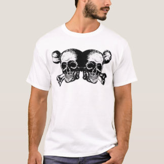 手厳しい精神- Doppelkopfの大きいスカル Tシャツ