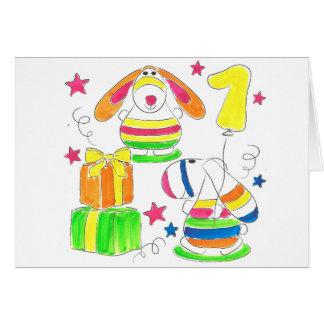 手図解入りの、写真付きのな多色刷りの子供のデザイン カード