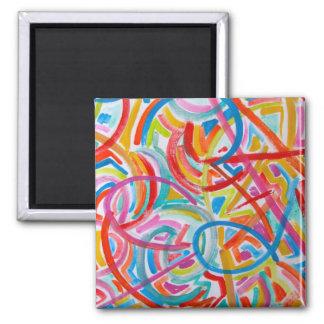 手塗りすべてのそこの道の終わりの-抽象美術 マグネット