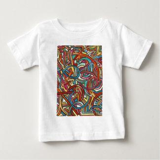 手塗りすべての道の終わりのそこ抽象芸術の芸術 ベビーTシャツ