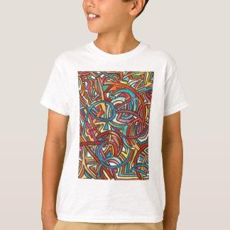 手塗りすべての道の終わりのそこ抽象芸術の芸術 Tシャツ