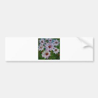手塗りのダリアの花 バンパーステッカー