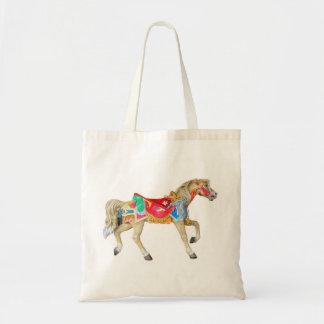 手塗りの回転木馬の馬 トートバッグ
