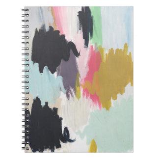 手塗りの春の破烈のノート ノートブック