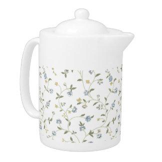 手塗りの花の茶ポット