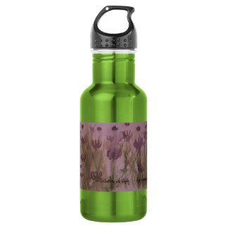 手塗りの花を使って ウォーターボトル