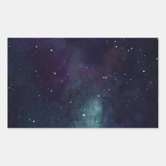 手塗りの銀河系 長方形シール