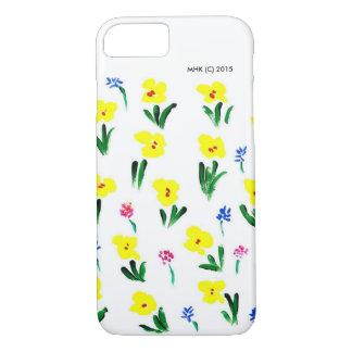 """手塗りの""""春幸福""""の- iPhone 7つのケース iPhone 8/7ケース"""