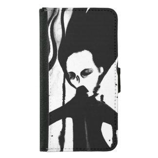 手塗りゴシック様式幽霊の女性電話札入れ GALAXY S5 ウォレットケース