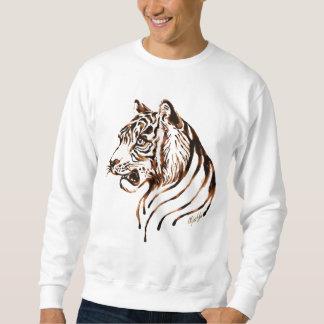 手塗りチョコレートトラの芸術の人のセーター スウェットシャツ