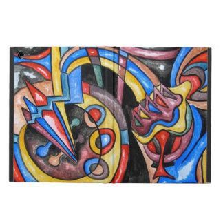手塗り地球大気圏外ジャズ抽象美術 iPad AIRケース