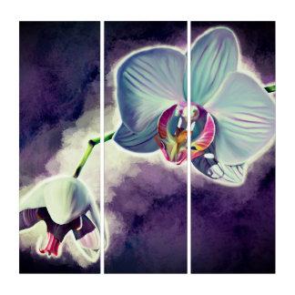 手塗り美しい蘭デジタル式に トリプティカ