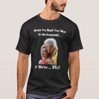 手形の妻に大統領になってほしいですか。 Tシャツ
