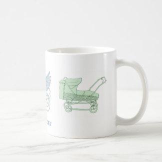 手押車のマグ コーヒーマグカップ