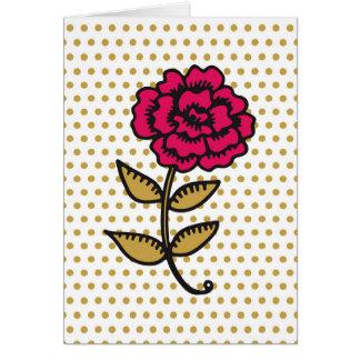 手描きのばら色カード カード