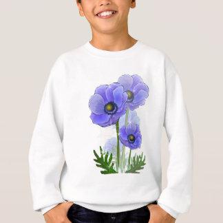手描きのアネモネの花 スウェットシャツ