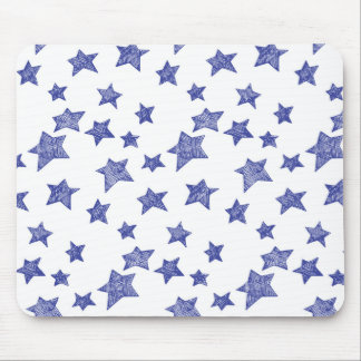 手描きのクリスマスの星 マウスパッド