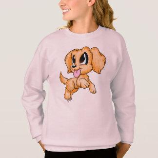 手描きのゴールデン・リトリーバーの女の子のセーター スウェットシャツ