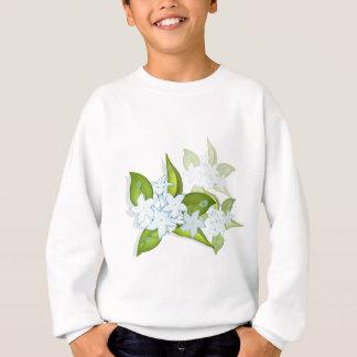 手描きのジャスミンの花 スウェットシャツ