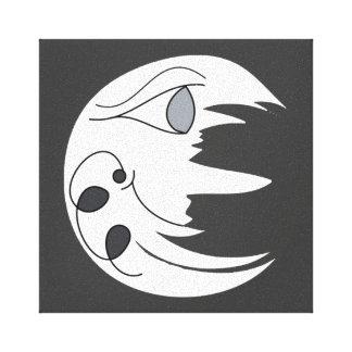 手描きのデジタルお洒落な月のデザイン キャンバスプリント