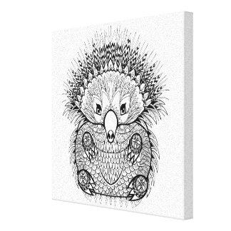 手描きのハリモグラの落書き6 キャンバスプリント