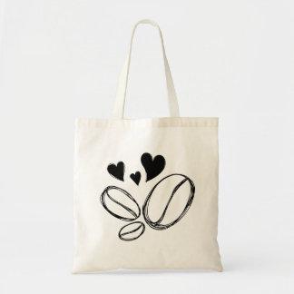 手描きのバッグの幼児のコーヒー恋人の豆 トートバッグ