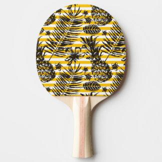 手描きのパイナップル 卓球ラケット