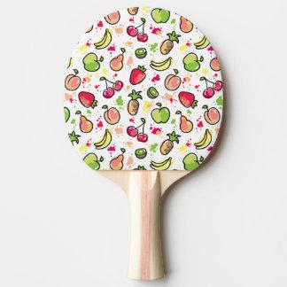 手描きのフルーツパターン 卓球ラケット
