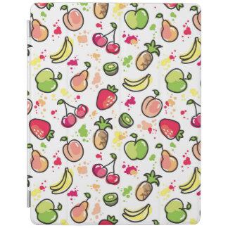 手描きのフルーツパターン iPadスマートカバー