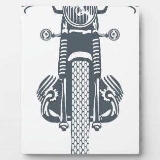 手描きのヴィンテージモーターバイク フォトプラーク