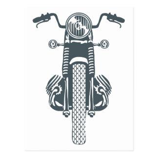 手描きのヴィンテージモーターバイク ポストカード