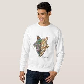 手描きの元のオオカミの曼荼羅のスエットシャツ スウェットシャツ
