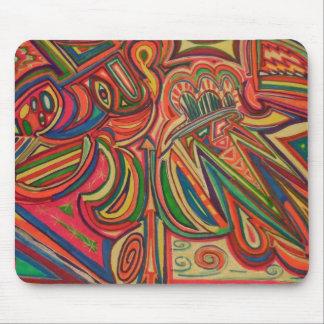 手描きの元の多色のな抽象芸術 マウスパッド