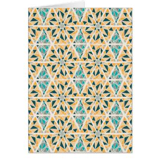 手描きの幾何学的なパターンデザインは感謝していしています カード