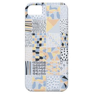 手描きの幾何学的な正方形の電話箱 iPhone SE/5/5s ケース