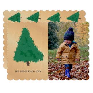 手描きの悲しく小ぎれいな木のミニマリストのテンプレート カード
