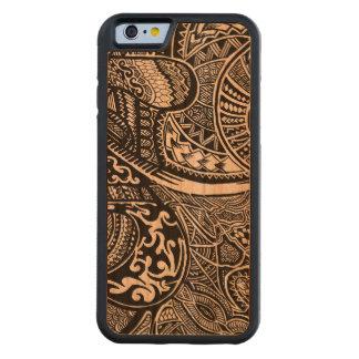 手描きの抽象的な種族の熱狂するな落書き CarvedチェリーiPhone 6バンパーケース
