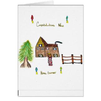 手描きの新しい世帯主カード カード