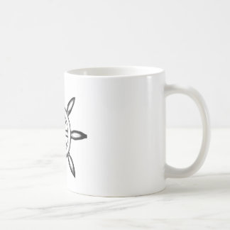 手描きの海賊船の車輪のコーヒー・マグ コーヒーマグカップ