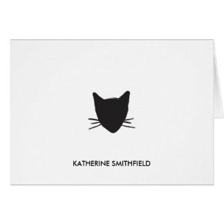 手描きの猫の個人的な文房具 カード