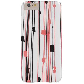 手描きの珊瑚の黒い水彩画の抽象芸術パターン BARELY THERE iPhone 6 PLUS ケース