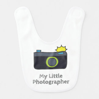 手描きの私の小さいカメラマン ベビービブ