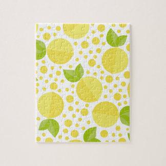 手描きの花の要素及びレモン ジグソーパズル
