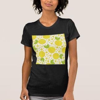 手描きの花の要素及びレモン Tシャツ
